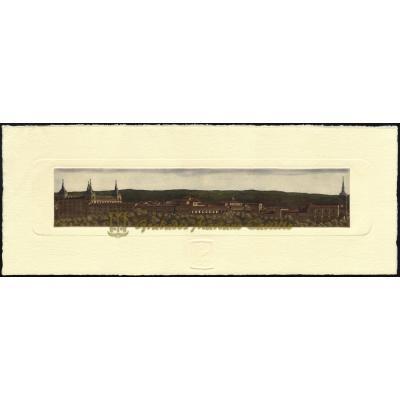 Vista panorámica de Lerma con Palacio Ducal (Parador de turismo)