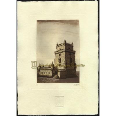 Torre de Belém, margem direita do rio Tejo