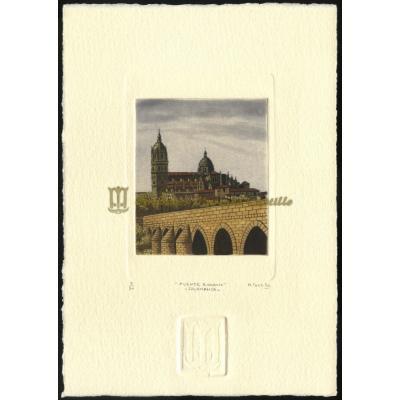 Catedral y puente romano de Salamanca