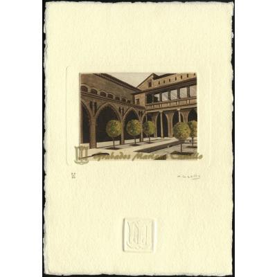 Patio de Santa Isabel del Palacio de la Aljafería