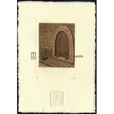 Puerta con silla II