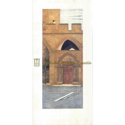 Puerta de la capilla de San Martín